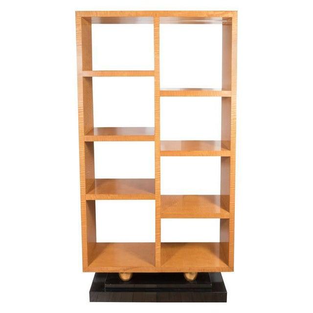 American Art Deco Style Illuminated Presentation Shelving Unit or Bookcase For Sale - Image 10 of 10