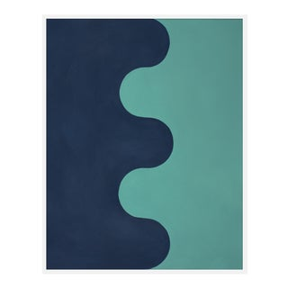 "Large ""Hairpin Serpentine in Blues"" Print by Stephanie Henderson, 41"" X 51"""