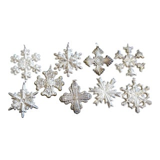 9 Sterling Silver Christmas Ornaments For Sale