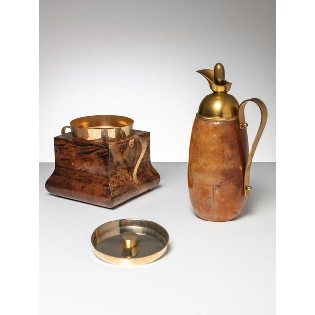 Mid-Century Modern Ice Bucket and Pitcher by Aldo Tura For Sale - Image 3 of 3