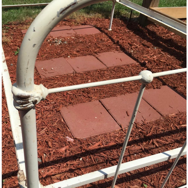 Vintage Shabby Chic Wrought Iron Bed Frame | Chairish