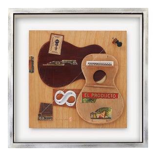 """""""Leda"""" Contemporary Mixed-Media Still Life Ukulele Assemblage by Poul Lange, Framed For Sale"""
