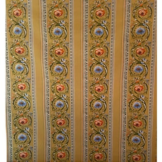 Vintage French Printed Fabric - 49.5ʺ × 226ʺ For Sale