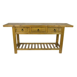 Chinese Reclaimed Wood Console Table For Sale