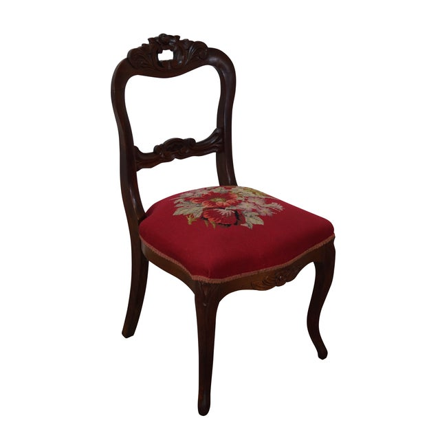 Antique Victorian Walnut Side Chair - Image 1 of 10