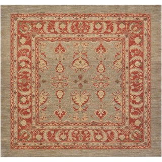 Mansour Superb Quality Handmade Square Agra Rug - 6′8″ × 7′ For Sale