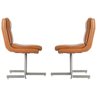 1970s Leather Lounge Chairs by Raphael, France - a Pair For Sale