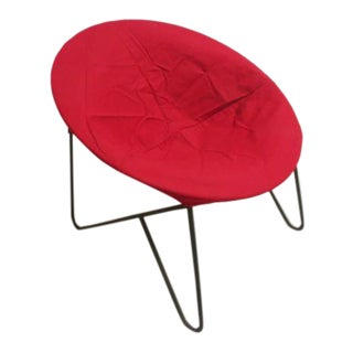 Rare 1950 Hedstrom Saucer Folding Hoop Lounge Chair With Hair Pin Leg For Sale