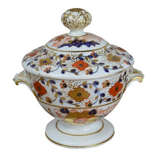 19th Century Old Japan Crown Derby Lidded Tureen For Sale