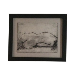 Matt Alston Charcoal Framed Drawing - Nude 16