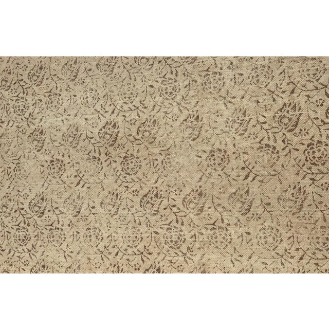 """Textile Rose Tarlow for Melrose House """"Calais"""" Fabric in Taupe/Natural 100% Hemp Lined For Sale - Image 7 of 9"""