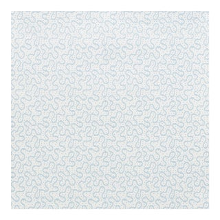 Sample - Schumacher X Celerie Kemble MeanderWallpaper in Slumber Blue For Sale