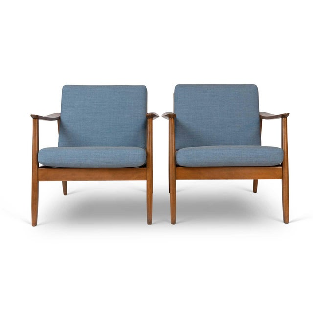 Danish Modern Pair of Folke Ohlsson / Dux Lounge Chairs For Sale - Image 3 of 12
