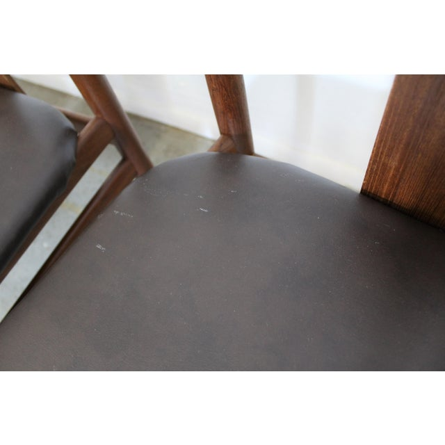 Brown Set of 4 Mid-Century Modern Folke Ohlsson Style Teak Dining Chairs For Sale - Image 8 of 13
