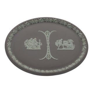 Early 20th Century Wedgwood Lilac Jasperware Decorative Plate (1909) For Sale