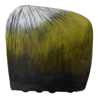 Italian Pottery Vessel in Green Ombré by Marcello Fantoni for Raymor For Sale