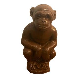 Large Chalkware Painted Monkey