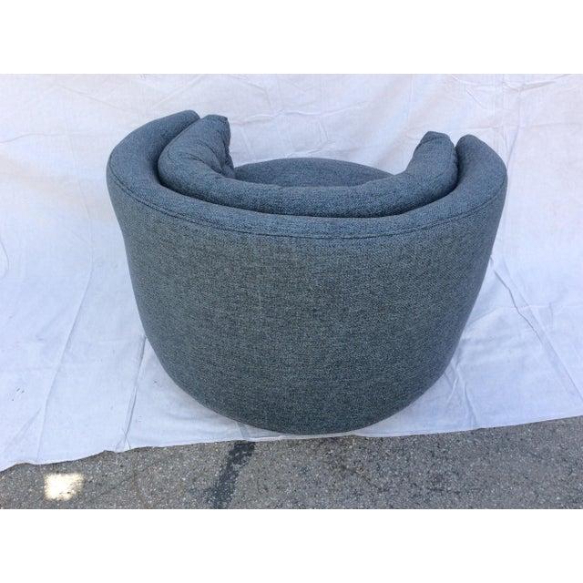 Mid-Century Modern Mid Century Barrel Swivel Chair For Sale - Image 3 of 12