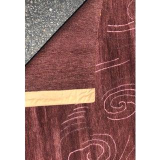 Unusual Purple Lucien Rollin Modern Designer Tibetan Silk & Wool Rug Preview