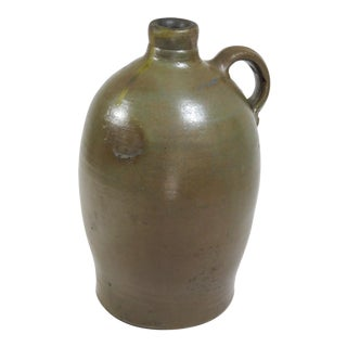1860s Antique Southern Usa Redware Liquor Jug For Sale