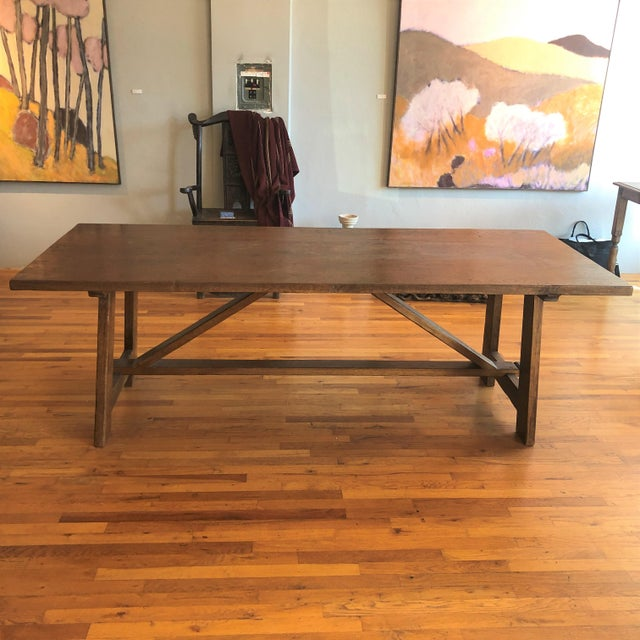 2010s Italian Walnut Dining Table For Sale - Image 5 of 5