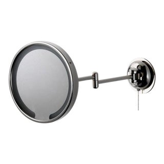 Modern Waterworks Wall Mounted Magnifying and Illuminating Led Extension Mirror For Sale