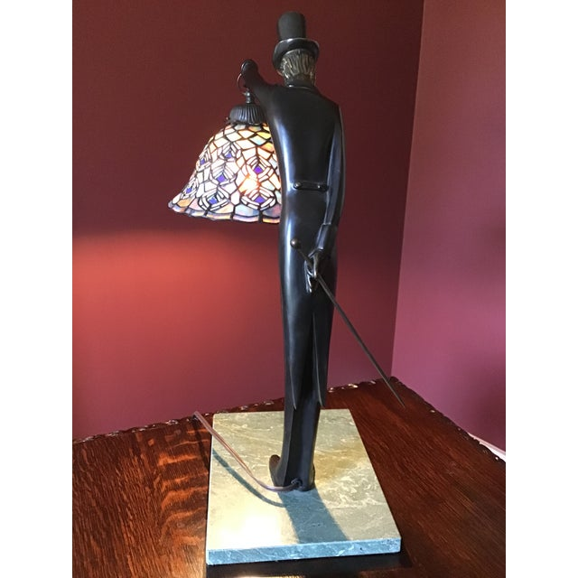 Art Deco Vintage Dale Tiffany Desk Lamp With Shade For Sale - Image 3 of 9