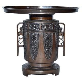 Antique Bronze Usubata Ikebana Vase For Sale