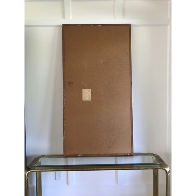 Huge Mid Century Walnut Mirror by Hart Mirror (LaBarge) For Sale - Image 6 of 8