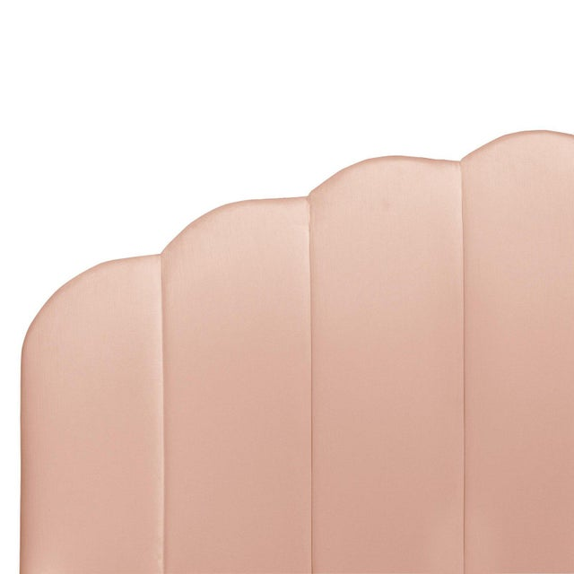 Art Deco King Shell Platform Bed in Titan Pink Champagne For Sale - Image 3 of 7