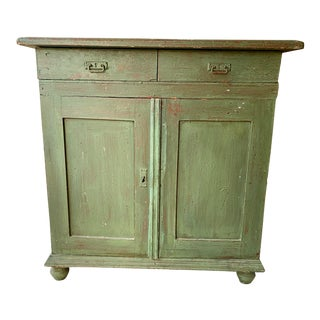 Late 19th Century Antique European Painted Cabinet For Sale