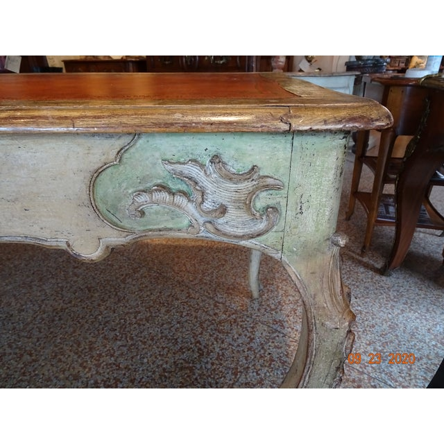 French 19th Century French Writing Desk With Leather Top For Sale - Image 3 of 13