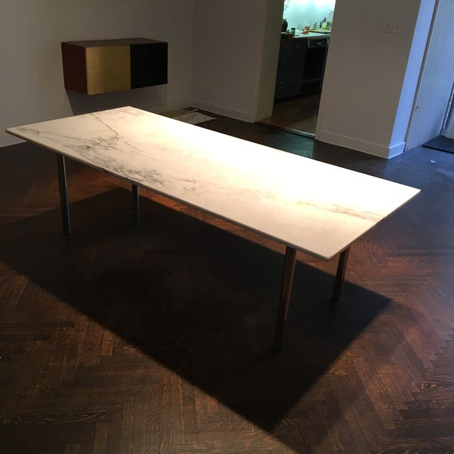 Mid-Century Modern Elaine Lustig Cohen Marble Extension Dining Table For Sale - Image 3 of 9