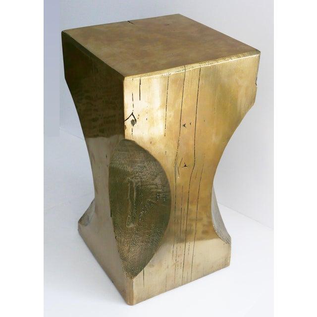 Gold Bespoke Metallic Stool For Sale - Image 8 of 8