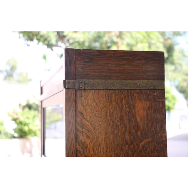 Antique Lawyers Bookcase For Sale - Image 9 of 11