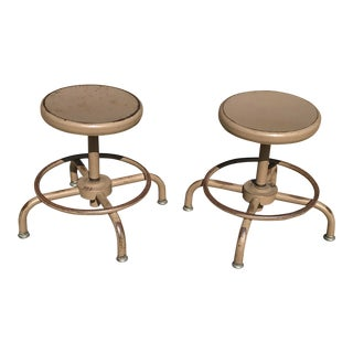 Mid Century Utility Stools - a Pair For Sale
