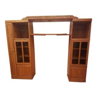 Light Pine Media Wall Unit, 1990s