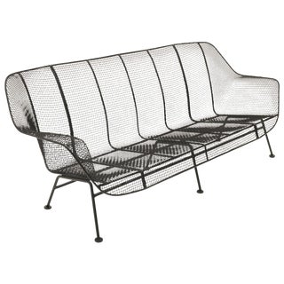 Sculptura Outdoor Sofa by Russell Woodard, Professionally Restored For Sale