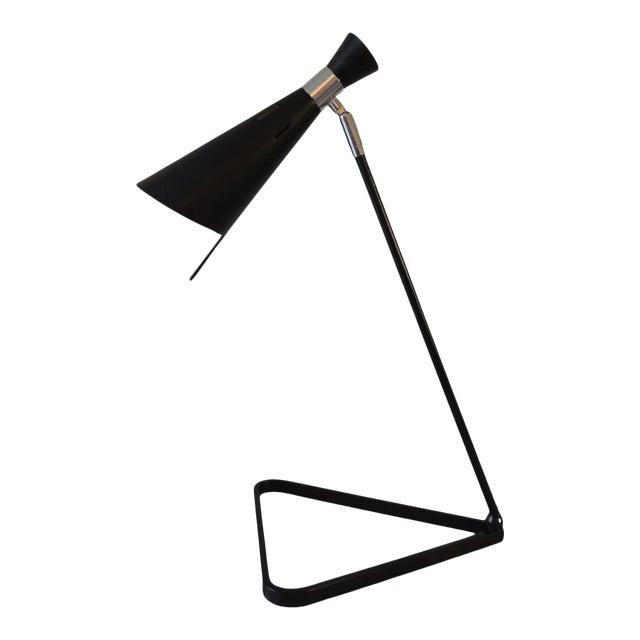 Mid-Century Modern Style Black Metal Desk Lamp For Sale