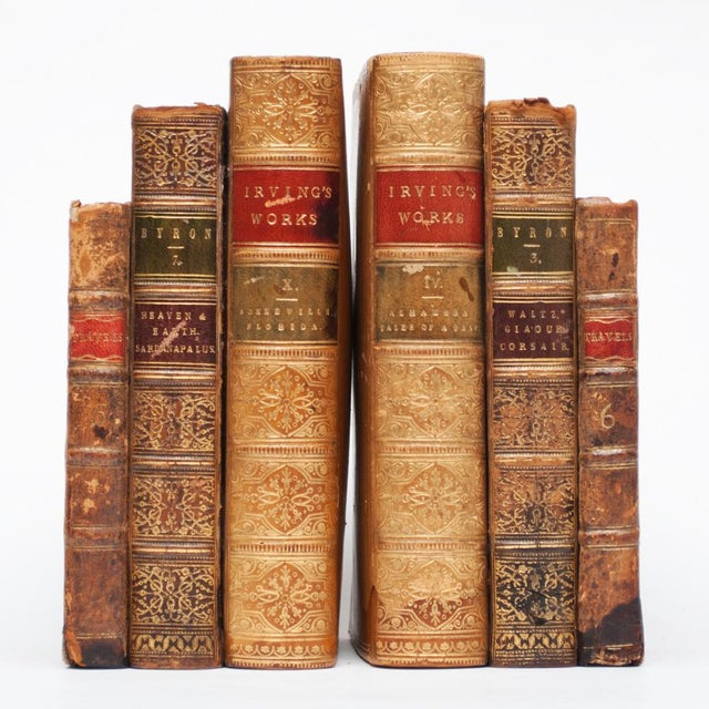 18th Century American Classical Antique Book Bookends - a Pair For Sale - Image 9 of 10