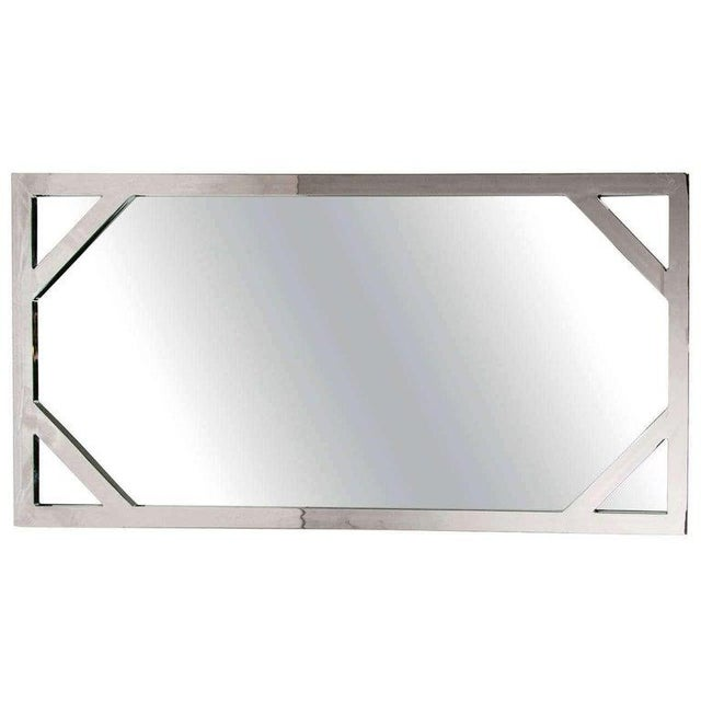 1970s 1970s Hollywood Regency Chromed Chippendale Mirror by Milo Baughman For Sale - Image 5 of 10