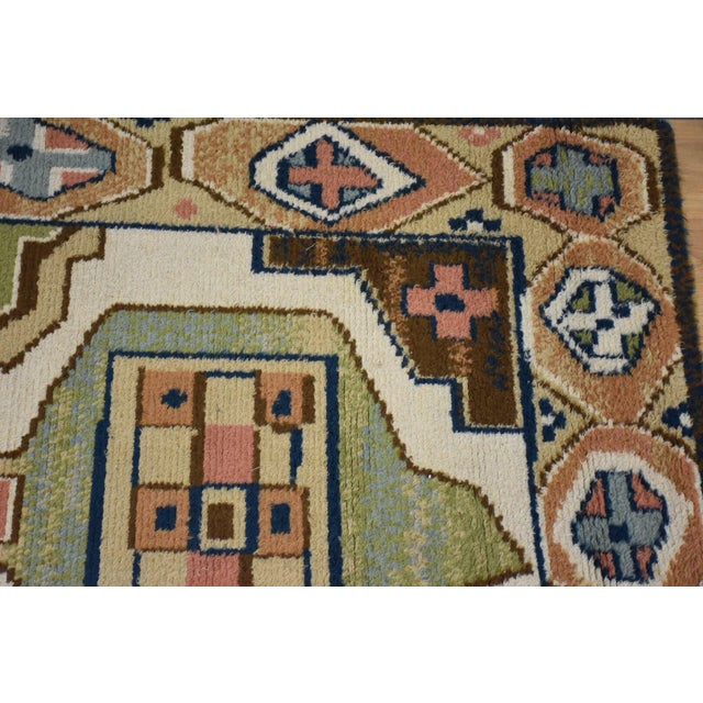 "1970s Ege Axminster Abstract Danish Rug 79"" X 54"" For Sale - Image 5 of 12"