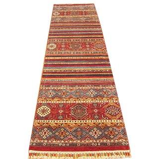 Shiraz - Geometric Handwoven Kazak Runner - 2′8″ × 9′8″ For Sale