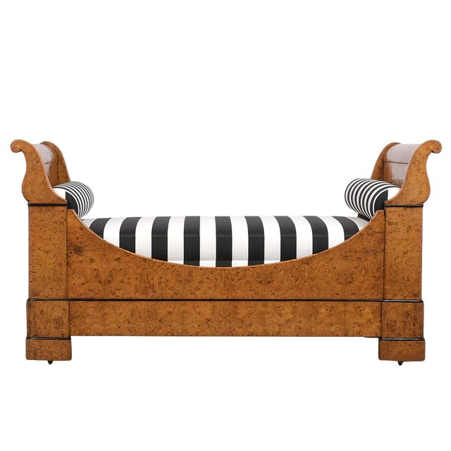 Early 19th Century French Empire-Style Burled Daybed For Sale