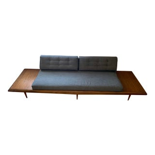 Mid Century Modern Adrian Pearsall Sofa With Attached End Tables For Sale