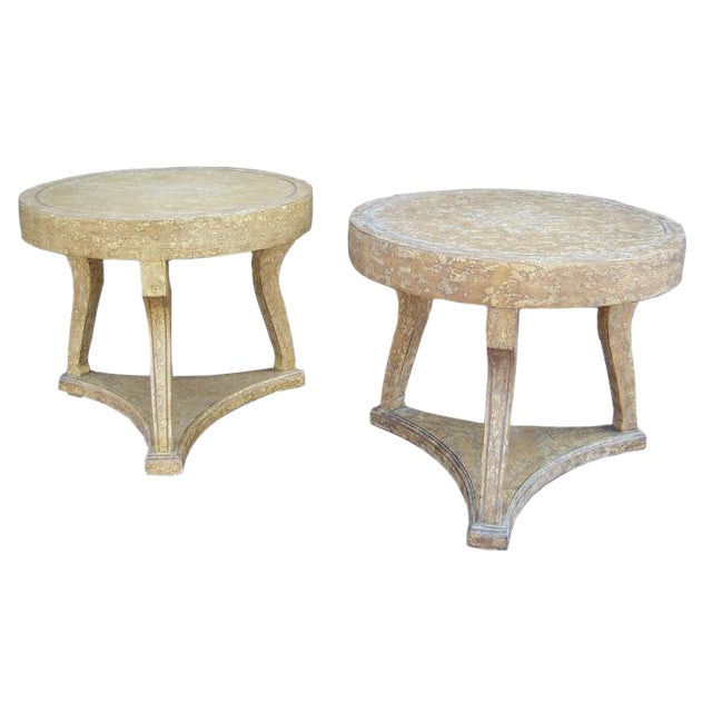 Pair of Round Gueridon Side Tables - Image 1 of 7