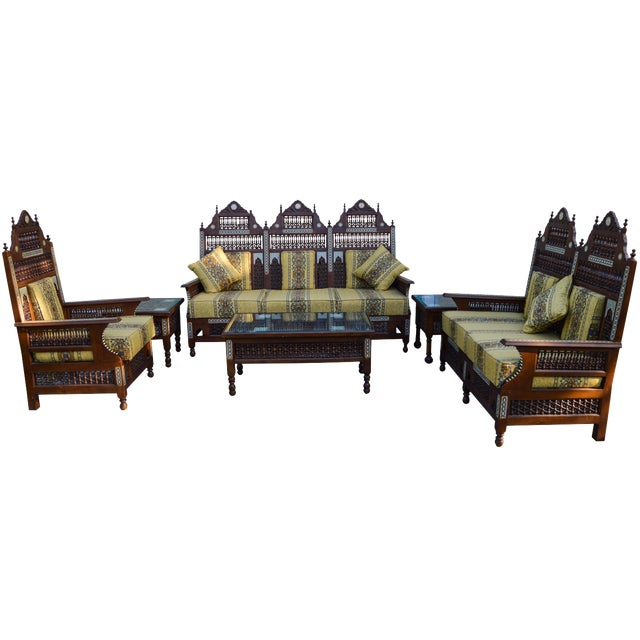19th-C. Fine Moorish Salon Suite, 6 Pcs For Sale
