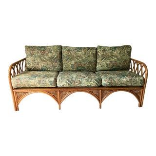 Modern Rattan Three Seater Sofa