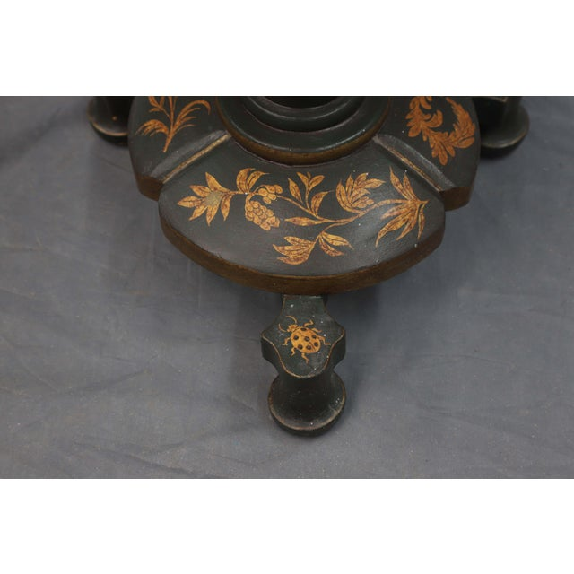 Mid 20th Century Floor Lamp With Table and Golden Leaves For Sale In New York - Image 6 of 7
