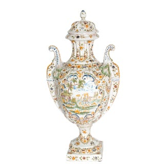 18th Century French Faience Lidded Urn